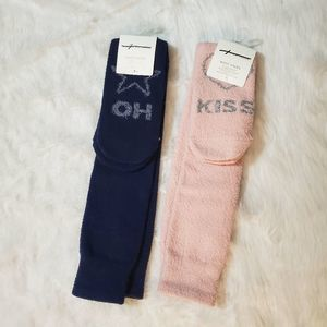 AMERICAN EAGLE 2 PAIRS BOOTS SOCKS ONE SIZE